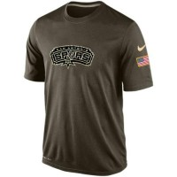 Men's San Antonio Spurs Salute To Service Nike Dri-FIT T-Shirt