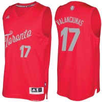 Men's Toronto Raptors #17 Jonas Valanciunas Red 2016-2017 Christmas Day NBA Swingman Jersey