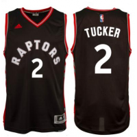 Men's Toronto Raptors #2 P. J. Tucker adidas Black Player Swingman Alternate Jersey