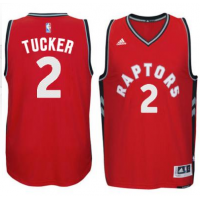 Men's Toronto Raptors #2 P. J. Tucker adidas Red Player Swingman Road Jersey