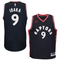 Men's Toronto Raptors #9 Serge Ibaka adidas Black Player Swingman Alternate Jersey