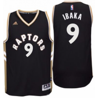 Men's Toronto Raptors #9 Serge Ibaka adidas Red Player Swingman OVO Jersey
