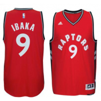Men's Toronto Raptors #9 Serge Ibaka adidas Red Player Swingman Road Jersey