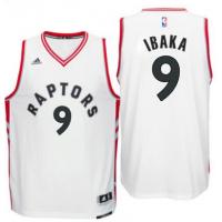 Men's Toronto Raptors #9 Serge Ibaka adidas White Swingman Home Jersey