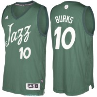 Men's Utah Jazz #10 Alec Burks Green 2016-2017 Christmas Day NBA Swingman Jersey
