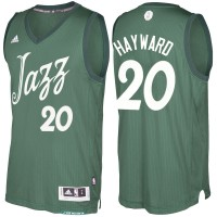 Men's Utah Jazz #20 Gordon Hayward adidas Green 2016-2017 Christmas Day NBA Swingman Jersey