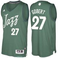 Men's Utah Jazz #27 Rudy Gobert Green 2016-2017 Christmas Day NBA Swingman Jersey