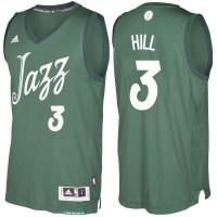 Men's Utah Jazz #3 George Hill Green 2016-2017 Christmas Day NBA Swingman Jersey