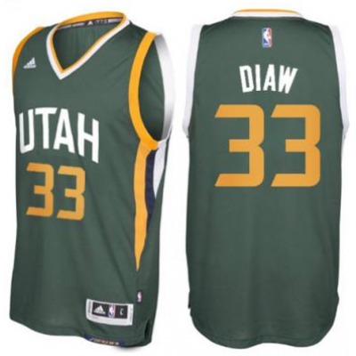 Men's Utah Jazz #33 Boris Diaw adidas Green New Swingman Alternate Jersey