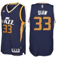 Men's Utah Jazz #33 Boris Diaw adidas Navy Blue New Swingman Road Jersey