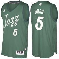 Men's Utah Jazz #5 Rodney Hood Green 2016-2017 Christmas Day NBA Swingman Jersey