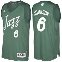 Men's Utah Jazz #6 Joe Johnson Green 2016-2017 Christmas Day NBA Swingman Jersey