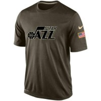 Men's Utah Jazz Salute To Service Nike Dri-FIT T-Shirt