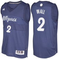 Men's Washington Wizards #2 John Wall Blue 2016-2017 Christmas Day NBA Swingman Jersey