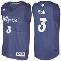 Men's Washington Wizards #3 Bradley Beal Navy Blue 2016-2017 Christmas Day NBA Swingman Jersey