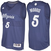 Men's Washington Wizards #5 Markieff Morris Navy Blue 2016-2017 Christmas Day NBA Swingman Jersey