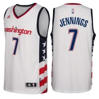 Men's Washington Wizards #7 Brandon Jennings adidas White Swingman Stars & Stripes Jersey