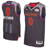 2017 All-Star Western Conferenc Oklahoma City Thunder #0 Russell Westbrook Charcoal Stitched NBA Jersey