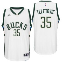 Milwaukee Bucks #35 Mirza Teletovic Home White New Swingman Jersey