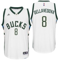 Milwaukee Bucks #8 Matthew Dellavedova Home White New Swingman Jersey