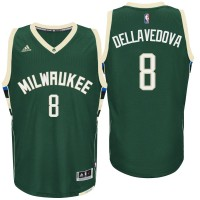 Milwaukee Bucks #8 Matthew Dellavedova Road Green New Swingman Jersey