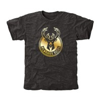 Milwaukee Bucks Gold Collection Tri-Blend T-Shirt Black