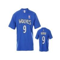 Minnesota Timberwolves #9 Ricky Rubio Blue NBA T-Shirts