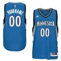 Minnesota Timberwolves Blue Men's Customized New Rev 30 Jersey