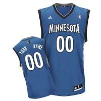 Minnesota Timberwolves Customized Blue Adidas Road Jersey