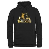 Minnesota Timberwolves Gold Collection Pullover Hoodie Black