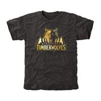Minnesota Timberwolves Gold Collection Tri-Blend T-Shirt Black