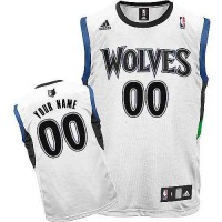 Minnesota Timberwolves Youth Customized White Round Neck Jersey