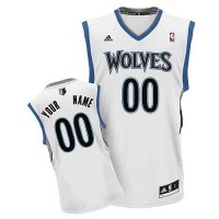 Minnesota Timberwolves Youth Customized White V-Neck Jersey