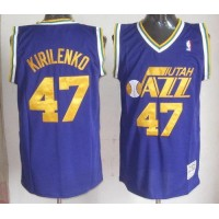 Mitchell & Ness Jazz #47 Andrei Kirilenko Blue Stitched Throwback NBA Jersey