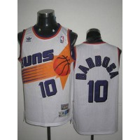 Mitchell & Ness Suns #10 BLeandro Barbosa Stitched White Throwback NBA Jersey