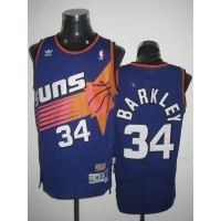 Mitchell & Ness Suns #34 Charles Barkley Stitched Blue Throwback NBA Jersey
