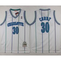 Mitchell And Ness Hornets #30 Dell Curry White Throwback Stitched NBA Jersey