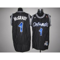 Mitchell And Ness Magic #1 Tracy Mcgrady Stitched Black Throwback NBA Jersey