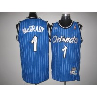 Mitchell And Ness Magic #1 Tracy Mcgrady Stitched Blue Throwback NBA Jersey