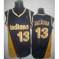 Mitchell And Ness Pacers #13 Mark Jackson Navy Blue Throwback Stitched NBA Jersey