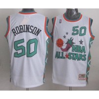 Mitchell And Ness Spurs #50 David Robinson White 1996 All star Stitched NBA Jersey