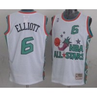 Mitchell And Ness Spurs #6 Sean Elliott White 1996 All star Stitched NBA Jersey