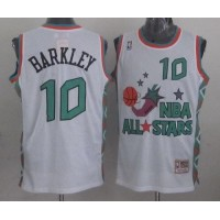 Mitchell And Ness Suns #10 Charles Barkley White 1996 All star Stitched NBA Jersey