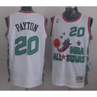 Mitchell And Ness Thunder #20 Gary Payton White 1996 All star Stitched NBA Jersey