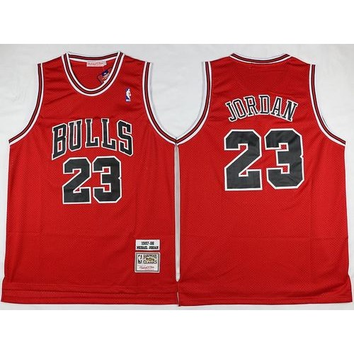 2bd39ddda Mitchell and Ness Bulls  23 Michael Jordan Stitched Red Throwback NBA Jersey