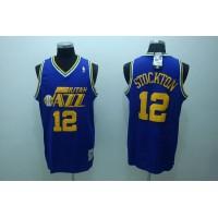 Mitchell and Ness Jazz #12 John Stockton Stitched Blue Throwback NBA Jersey