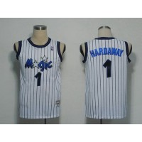 Mitchell and Ness Magic #1 Penny Hardaway White Stitched NBA Jersey