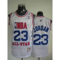 Mitchell and Ness Wizards #23 Michael Jordan 2003 All Star White Stitched NBA Jersey
