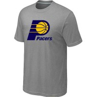 NBA Indiana Pacers Big & Tall Primary Logo T-Shirt Light Grey