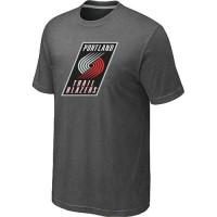 NBA Portland Trail Blazers Big & Tall Primary Logo T-Shirt Dark Grey